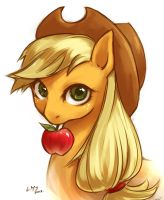 Would you like an apple? by KatiraMoon