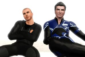Shepard and Kaidan being all SWAG by Frigidchick