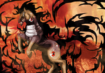 Revisit of an old work ALUCARD HORSE by AngelKiller666