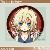 + Aya Brea Button + by Kiriye