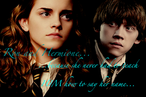 Ron and Hermione by NoLongerInvisible