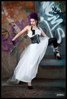 Punky Grafitti Bride 2 by JenHell66