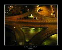 Oslo by night - Road by lexidh