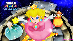 MMD Nintendo:Super Peach Galaxy by AmaneHatsura