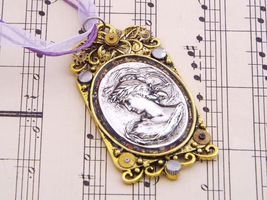 victorian steampunk cameo necklace by fripparie