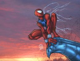Scarlet Spiderman Colors by JoeyVazquez