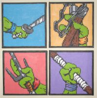 The Weapons of Teenage Turtles by Squarepainter