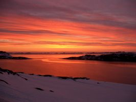 Sunset in Nuuk, Greenland by frits10a