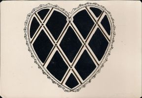 Heart paper stock by jinifur