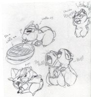 Waffles is a very busy ham by G1-Ratbat