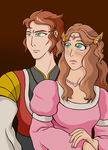 Prince and Princess of Hyrule by cathanupto