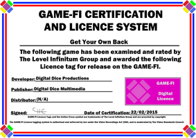 Get Your Own Back Game-Fi Certificate by LevelInfinitum