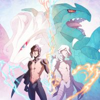Zekrom and Reshiram by hellcorpceo