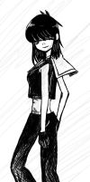 Rough:marin outfit Noodle by blue-indigo-girl