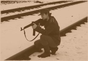 The railway guard by SPIDIvonMARDER