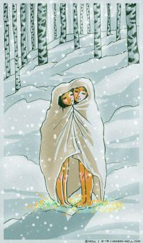 Together under one blanket by Hikari-Nell