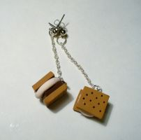 S'more Earrings by paperfaceparade