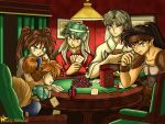 Dogs Playing Poker by ladybattousai