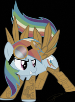 Steam Punk Rainbow Dash by Kittyhawkman