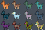 [OPEN 7/12 - PRICE REDUCED] Canine Adopts by pirateprincss