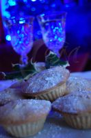 Blue mince pies by Moonstarphotos