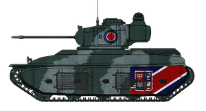 Fortnum F2b Medium Tank by AdmiralSerenity