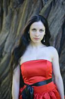 Red Satin Portrait 24 by Anariel-Stock