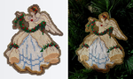 Flowing Gown Christmas Angel Ornament by pinkythepink