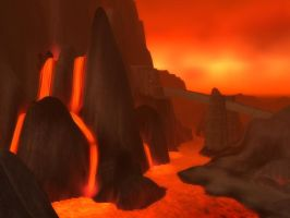 Wow Burning Steppes  2 Wallpaper by Swiftstone