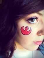 Rebel Alliance Makeup by ZombieFayce