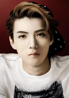 exo sehun digital painting by juliatu