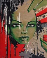 Acrylique on canvas - Greengirl by Youl by YoulDesign