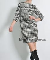 Check Wool Tulip Dress 3 by yystudio