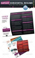 Catchy Horizontal Resume by kh2838