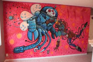 Robotbattle mural final by edbot5000