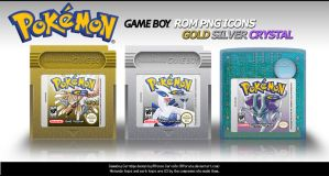 Pokemon Rom Icons GSC by Alforata