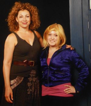 Me and Alex Kingston by BlumberBerrry