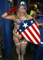 Jaycee Cosplay As Captain America by Wilcox660