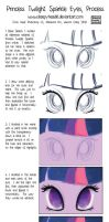 Process - Princess Twilight Sparkle Eyes by SleepyHeadKL