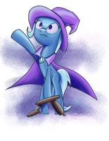 Trixie on a Stool by Fox-Moonglow