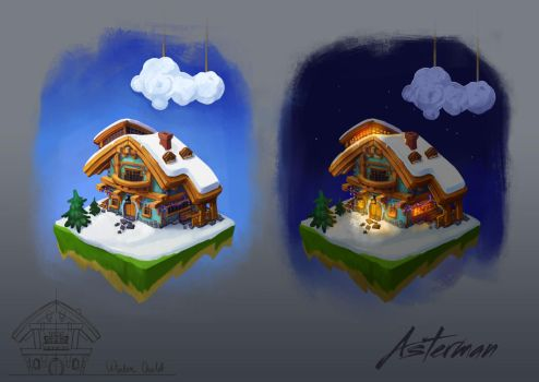 Winter  chalet by Meilous
