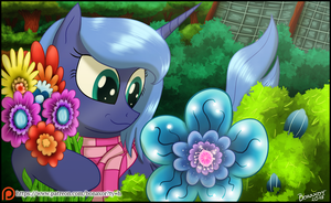 Luna and her flowers by Bonaxor