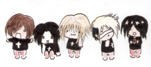 The Gazette Chibi by Gotothedoor