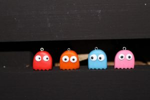 Pacman ghosts by Polymerchaos