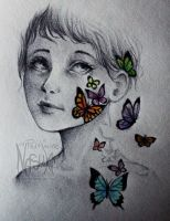 Butterflies in the skin - old drawing redraw by Nasuki100