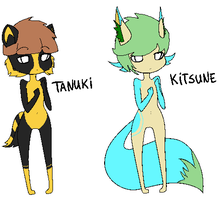 NAME US - Tanuki and Kitsune by CassidyPeterson