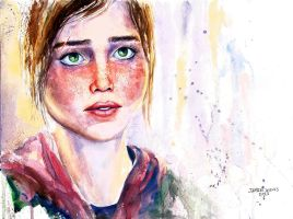 The Last of Us Ellie Painting by VisualJamie
