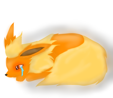 Crying Flareon by Eevui