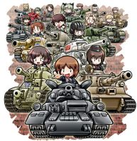 Girls Und Panzer Chibi by pwnagepancakes