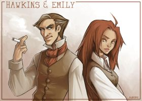 Hawkins and Emily by auroreblackcat